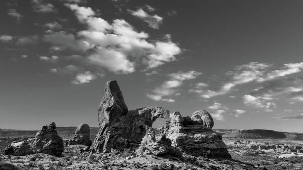 Wall Art - Photograph - Turret Arch Bw by Jerry Fornarotto