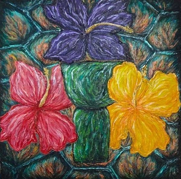 Painting - Turtle Latte Stone Hibiscus by Michelle Pier