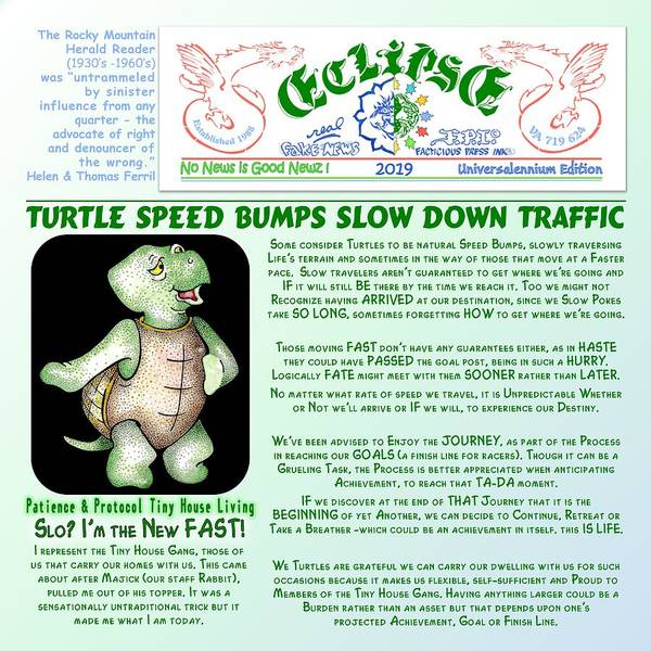 Digital Art - Turtle Speed Bumps by Dawn Sperry