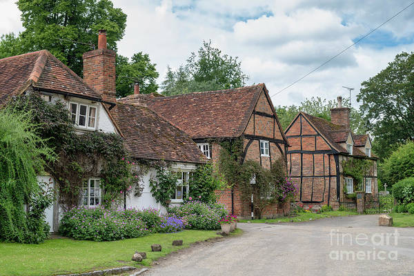 Wall Art - Photograph - Turville Period Cottages by Tim Gainey