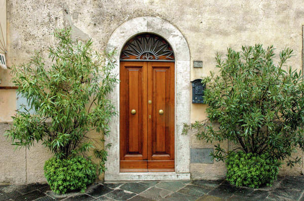 Photograph - Tuscan Door by Mark Duehmig
