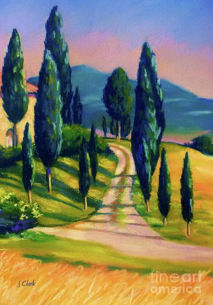 Tramonto Wall Art - Painting - Tuscan Glow by John Clark