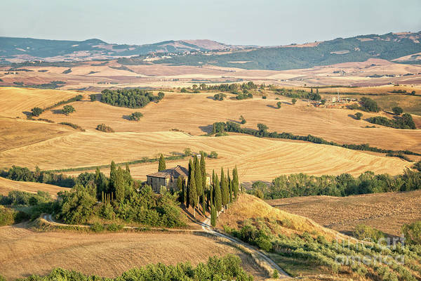 Villa Photograph - Tuscan Hills by Delphimages Photo Creations