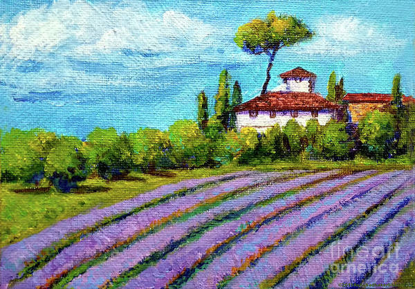 Wall Art - Painting - French Lavender Fields by Asha Sudhaker Shenoy