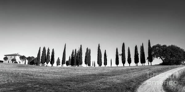 Wall Art - Photograph - Tuscan Panorama Black And White by Delphimages Photo Creations