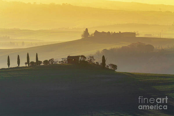 Photograph - Tuscan Rolling Farmland by Heiko Koehrer-Wagner
