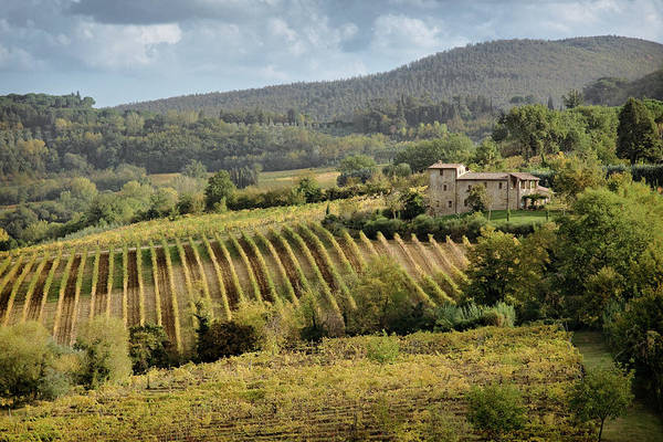 Farmhouse Photograph - Tuscan Valley by Dave Bowman