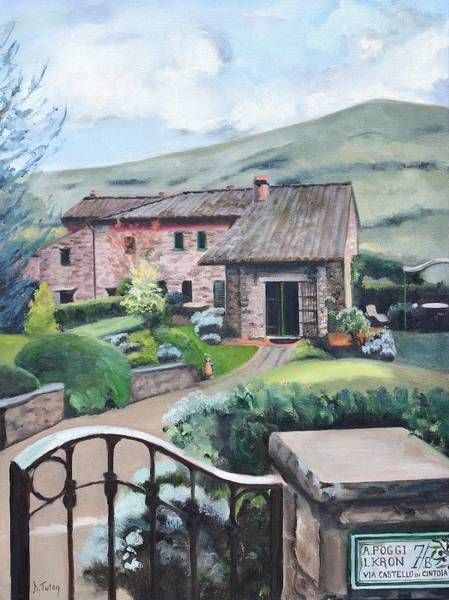 Painting - Tuscan Villa Painting by Donna Tuten