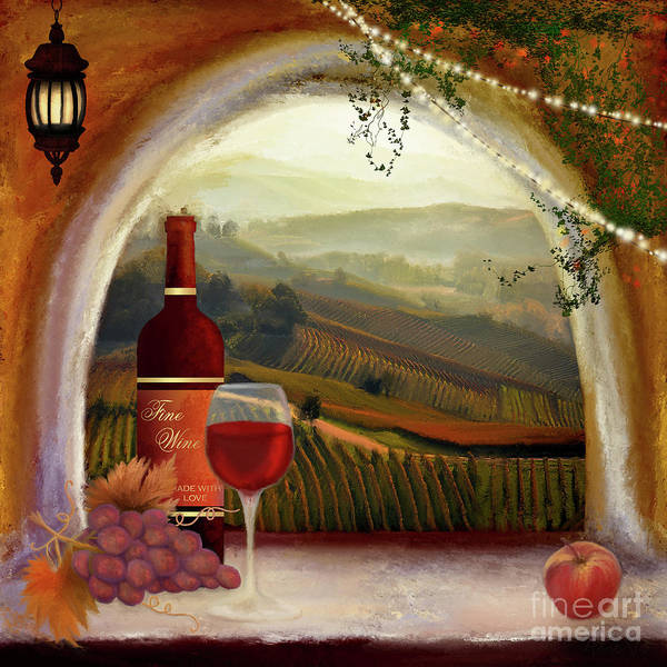 Painting - Tuscan Wine by Anne Vis