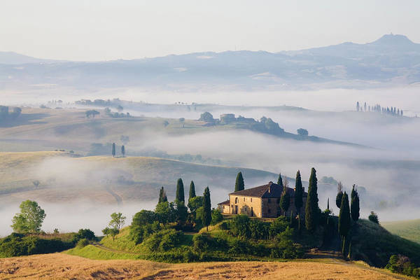 Pastel Drawing Photograph - Tuscany Farmhouse by Wingmar