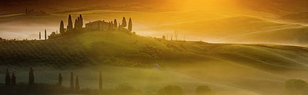 Villa D Wall Art - Photograph - Tuscany In Gold by Evgeni Dinev