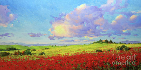 Wall Art - Painting - Tuscany Poppies In Bloom by Gary Kim