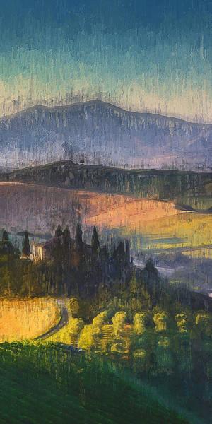 Painting - Tuscany Vineyards - 10 by Andrea Mazzocchetti