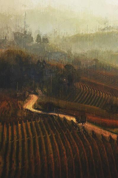 Painting - Tuscany Vineyards - 13 by Andrea Mazzocchetti