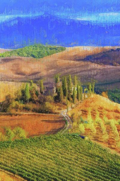 Painting - Tuscany Vineyards - 14 by Andrea Mazzocchetti