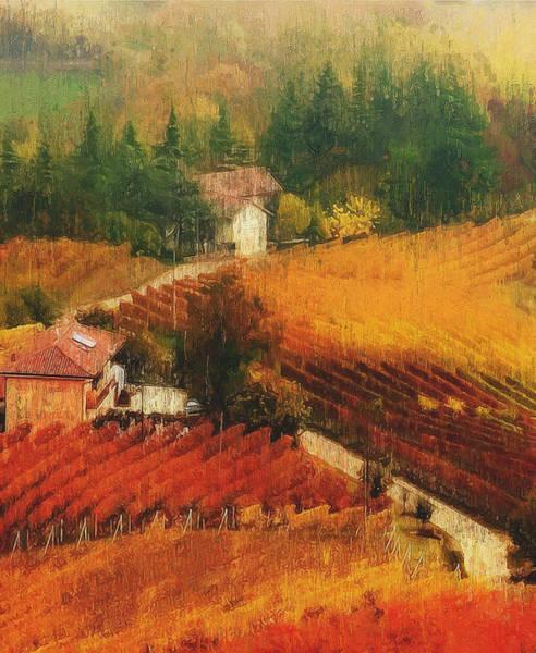 Painting - Tuscany Vineyards - 15 by Andrea Mazzocchetti