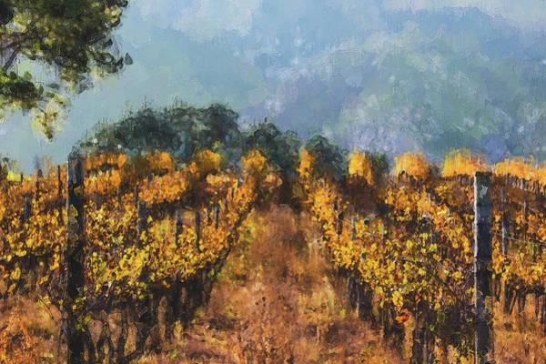 Painting - Tuscany Vineyards - 16 by Andrea Mazzocchetti
