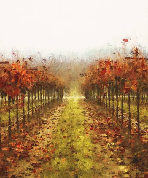 Painting - Tuscany Vineyards - 19 by Andrea Mazzocchetti