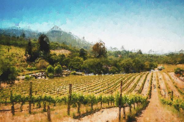 Painting - Tuscany Vineyards - 22 by Andrea Mazzocchetti