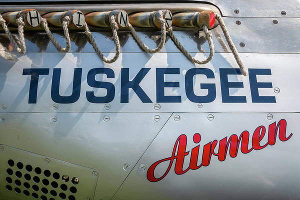 Wall Art - Photograph - Tuskegee Airmen P-51 Mustang Nose Art by Adam Romanowicz