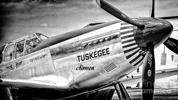 Wall Art - Photograph - Tuskegee P-51 Mustang by Rene Triay Photography