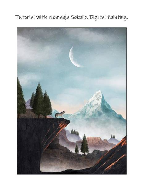 Digital Art - My First 'real' Digital Painting/tutorial With Nemanja Sekulic by Danielle R T Haney