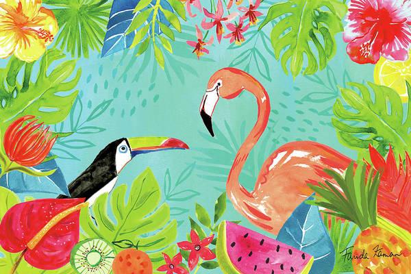 Hibiscus Flower Painting - Tutti Frutti IIi by Farida Zaman