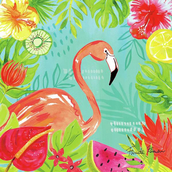 Hibiscus Flower Painting - Tutti Frutti Iv by Farida Zaman