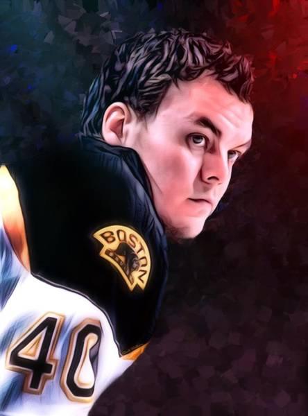 Digital Art - Tuukka Rask Portrait  by Scott Wallace Digital Designs