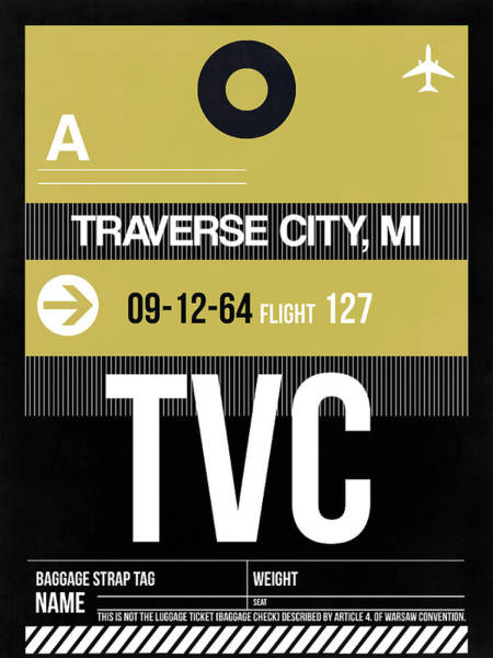 Wall Art - Digital Art - Tvc Traverse City Luggage Tag II by Naxart Studio