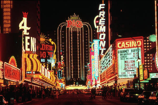 Photograph - Tvno115 Las Vegas At Night, Nevada by Eric Figge