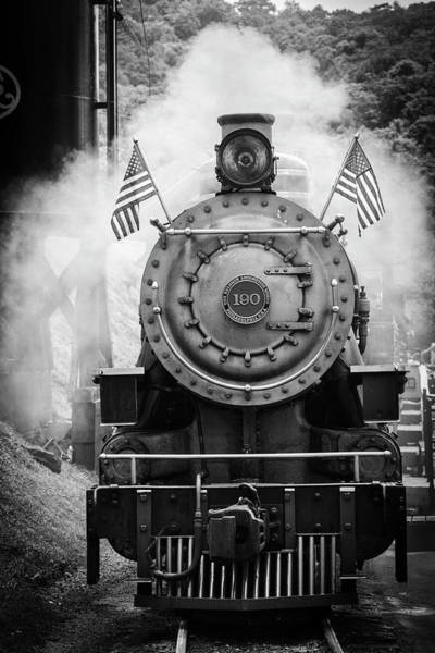Wall Art - Photograph - Tweetsie Steam Engine Black And White by Garry Gay