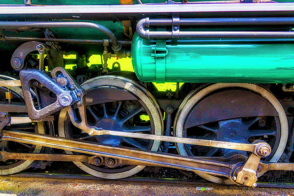 Wall Art - Photograph - Tweetsie Steam Train Wheels by Garry Gay