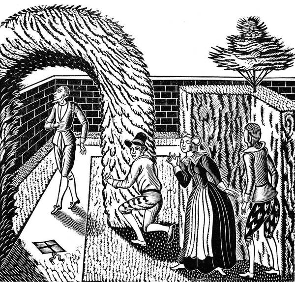 Garden Wall Drawing - Twelfth Night By William Shakespeare by Eric Ravilious