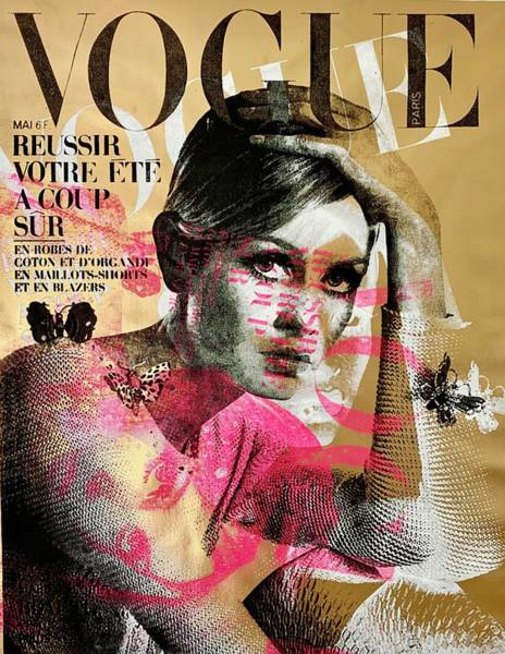 Vogue Mixed Media - Twiggy Gold  by Shane Bowden
