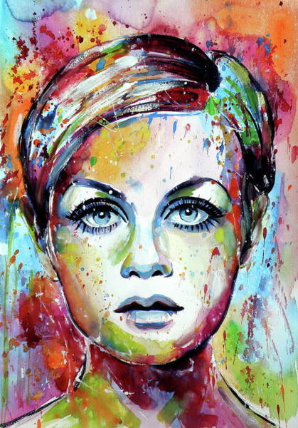 Wall Art - Painting - Twiggy Iv by Kovacs Anna Brigitta