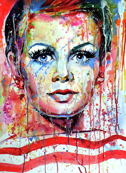 Wall Art - Painting - Twiggy by Kovacs Anna Brigitta