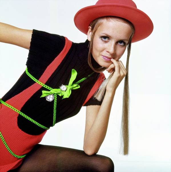 Drawing - Twiggy With Piaget Watches by Bert Stern