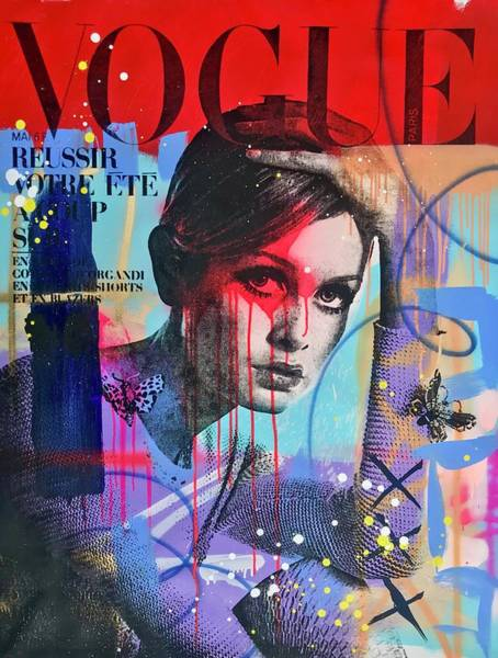 Vogue Mixed Media - Twiggy With The Look In Her Eye  by Shane Bowden