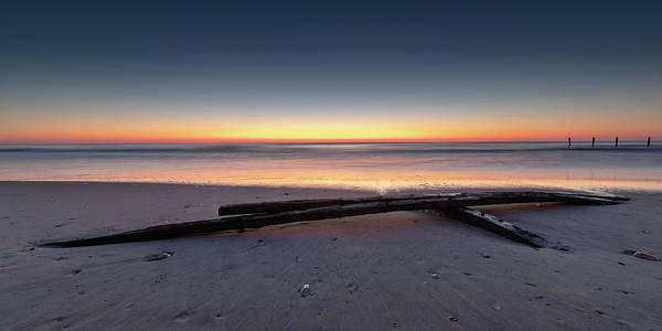 Photograph - Twilight Assateague Island Shipwreck II by William Dickman