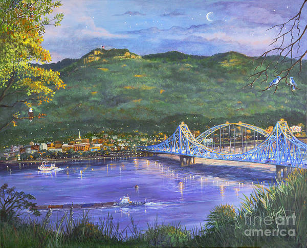 Painting - Twilight At Blue Bridges by Marilyn Smith