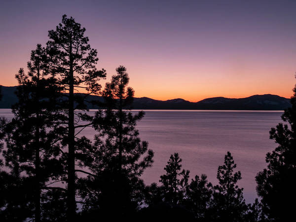 Wall Art - Photograph - Twilight At Lake Tahoe by Christopher Johnson
