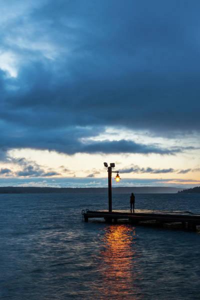 Digital Art - Twilight At Marsh Park Waterfront by Michael Lee