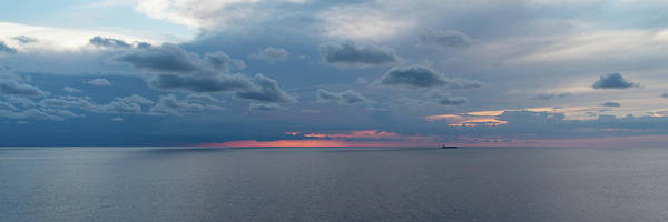 Photograph - Twilight At Sea With Ship On The Horizon by William Dickman