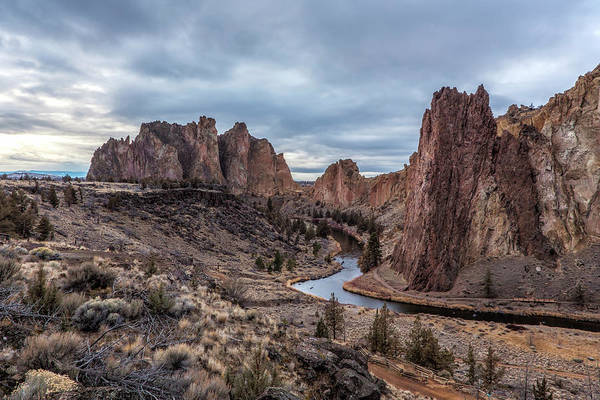 Redmond Wall Art - Photograph - Twilight At Smith Rock State Park by Belinda Greb