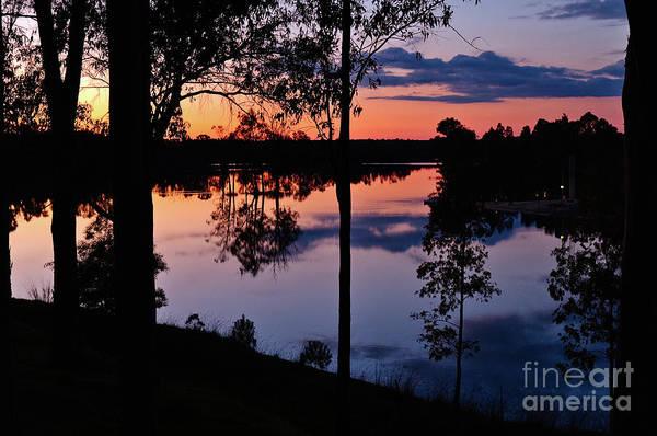 Twilight By The Lake Art Print
