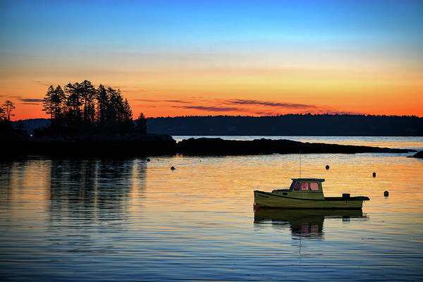 Photograph - Twilight In Five Islands Harbor by Rick Berk