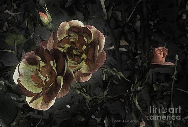 Digital Art - Twilight In The Garden by Kathie Chicoine