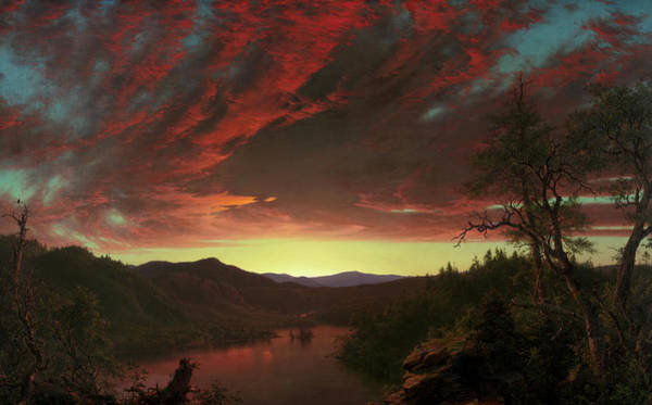Wall Art - Painting - Twilight In The Wilderness, 1860 by Frederic Edwin Church