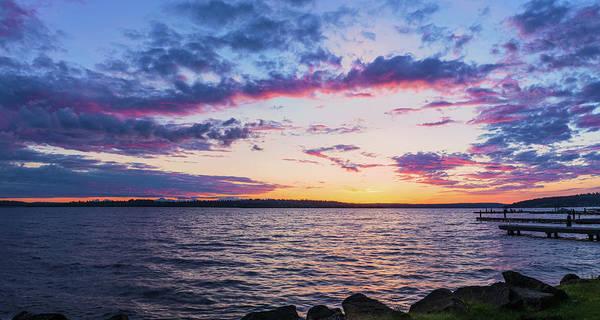Digital Art - Twilight Moment In Lake Washington by Michael Lee